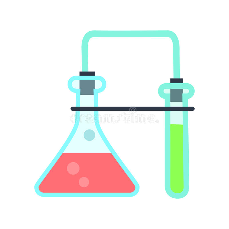 Illustration de verrerie de laboratoire dans le style plat illustration stock