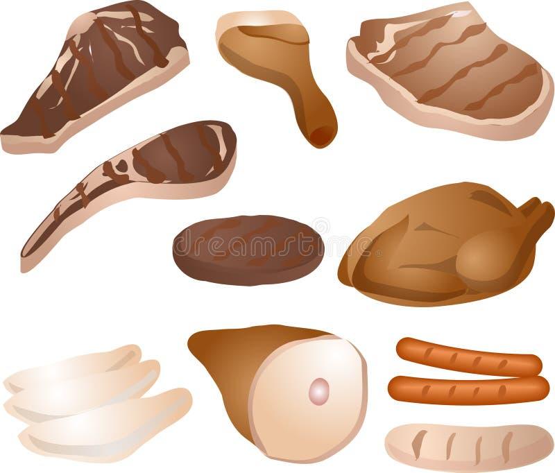 Illustration de viande cuite illustration libre de droits