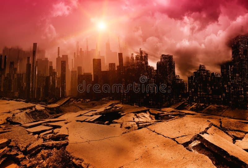 Illustration de ville de tremblement de terre illustration de vecteur