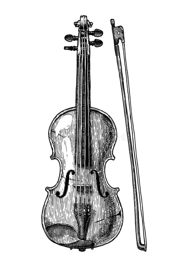 Illustration de vintage d'alto illustration de vecteur