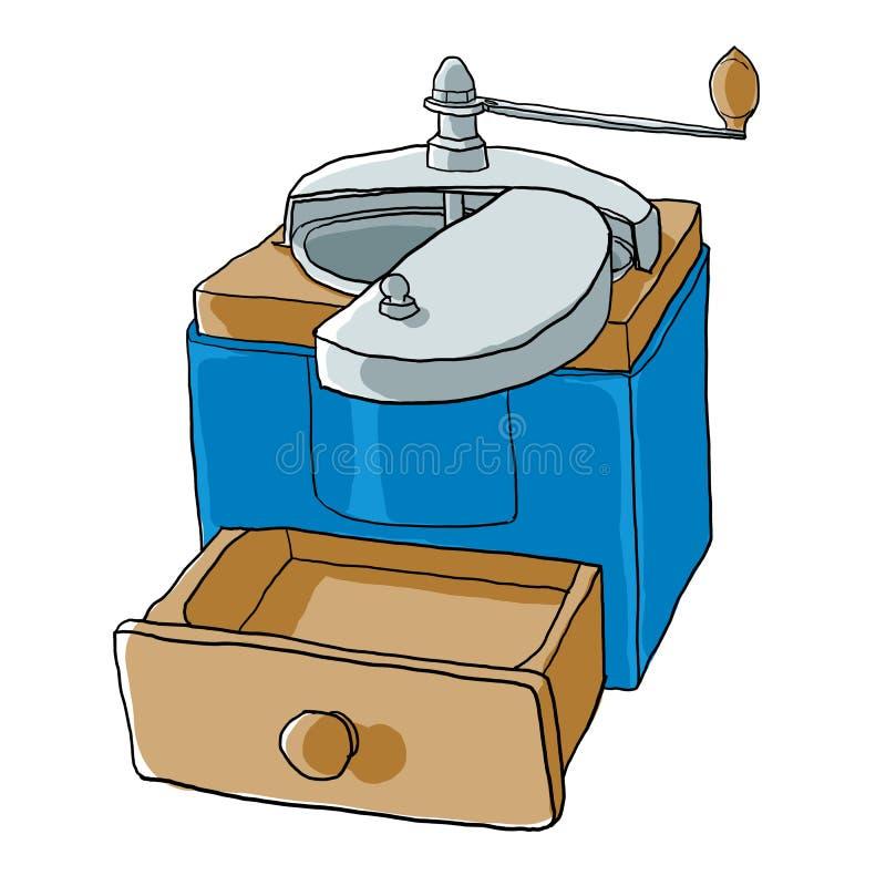 Illustration de Vintage de broyeur de café illustration de vecteur