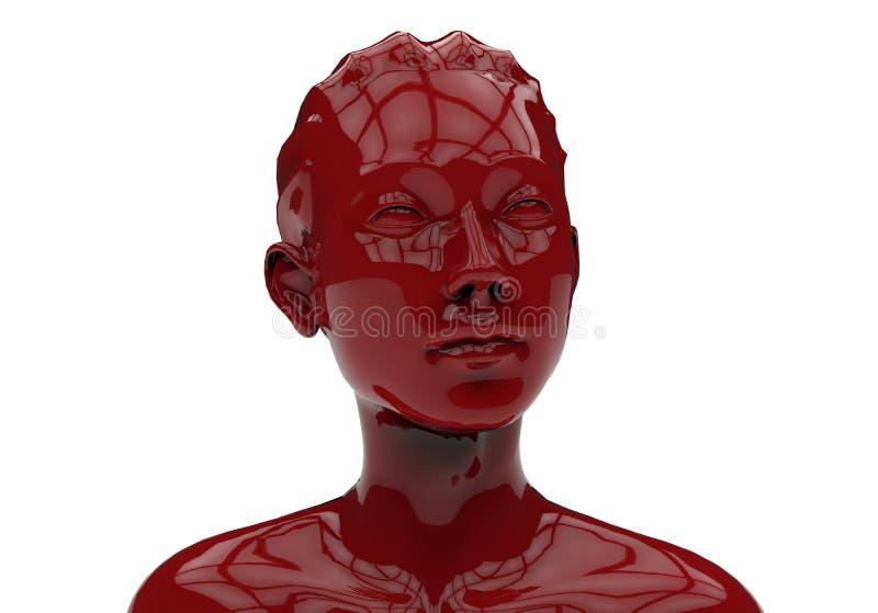 Illustration de visage de femme illustration stock