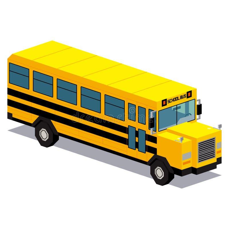 Illustration de voiture d'autobus scolaire d'isolement sur le fond blanc illustration libre de droits