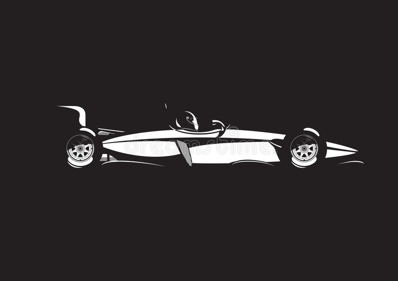 Illustration de voiture de formule illustration stock