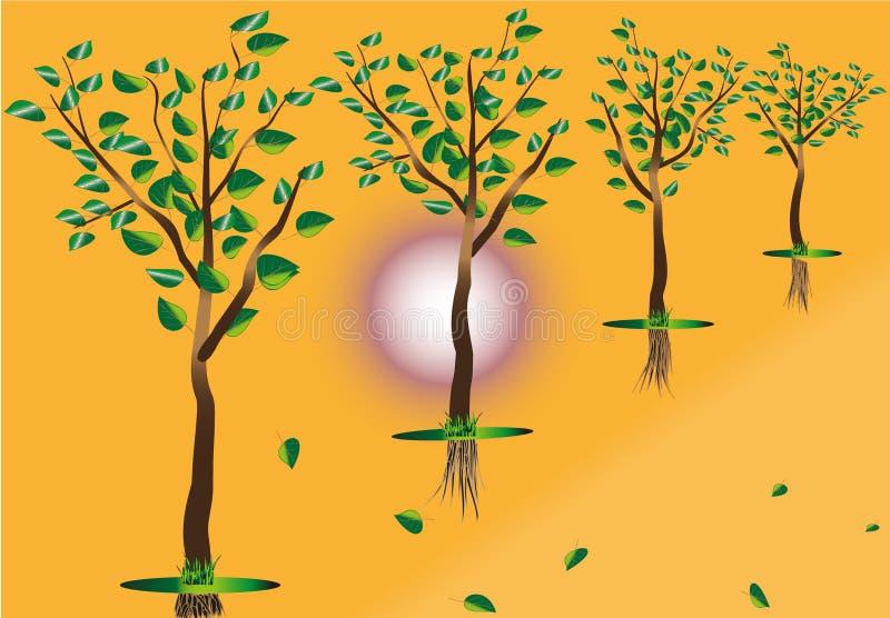illustration de Vol-arbres illustration de vecteur