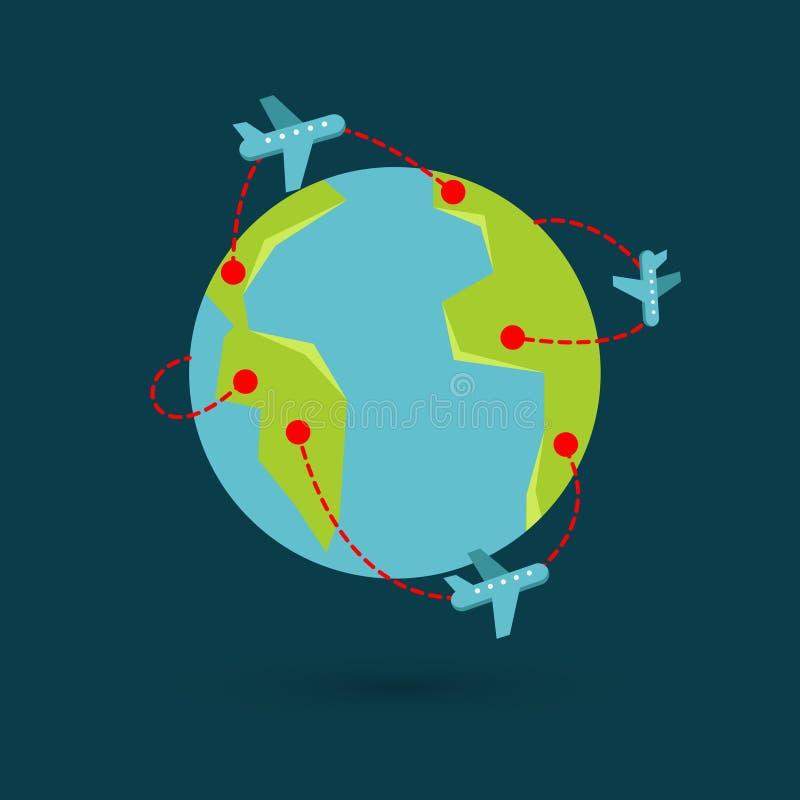 Illustration de voyage de la terre de vecteur illustration libre de droits