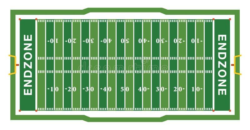 Illustration de vue aérienne de champ de football américain illustration libre de droits