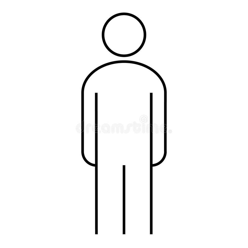 Download Illustration Debout D'homme D'icône De Découpe Illustration Stock - Illustration du mâle, personne: 87708522