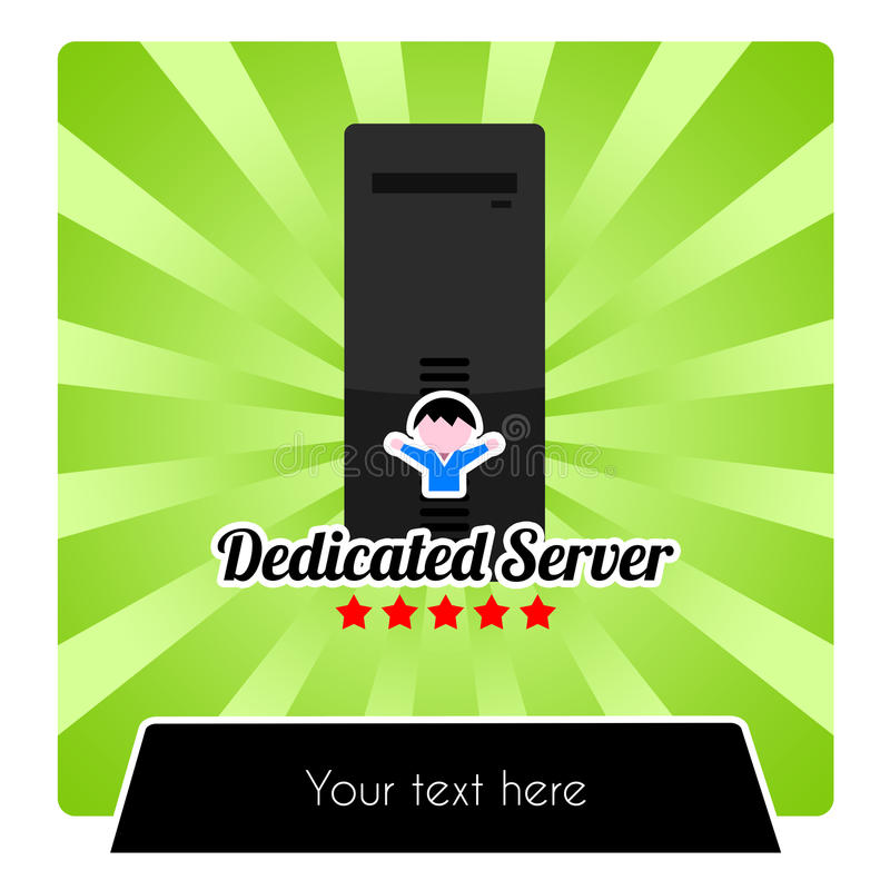 Illustration for dedicated web hosting services royalty free stock photo