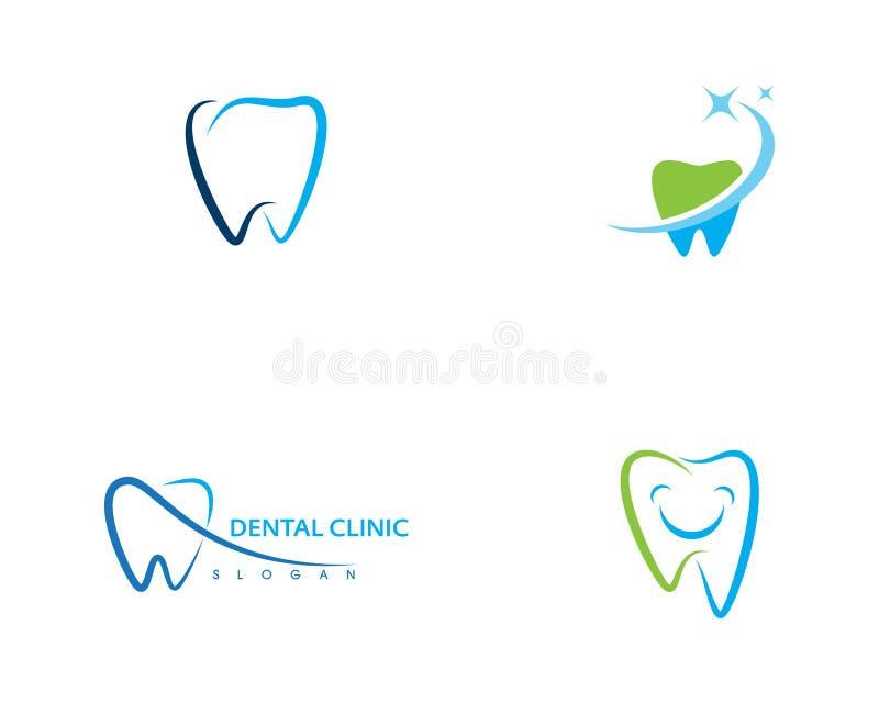 Illustration dentaire de vecteur de calibre de logo illustration stock
