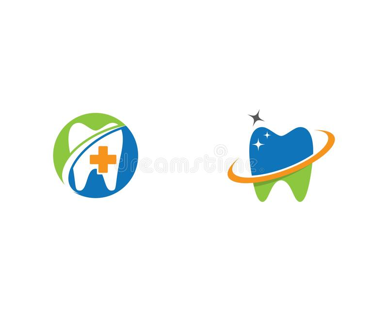 Illustration dentaire de vecteur de calibre de logo illustration libre de droits