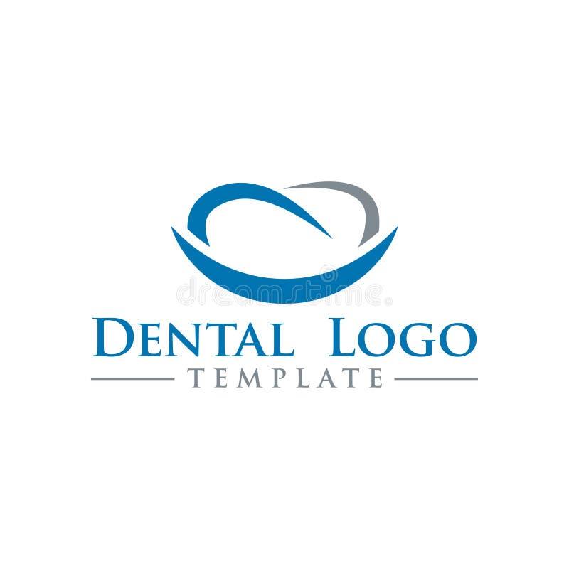 Illustration of dental logo design template vector royalty free illustration