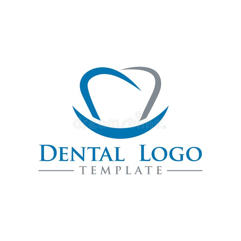 Illustration of dental logo design template vector stock illustration