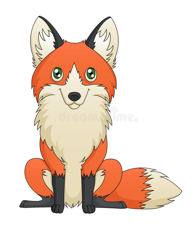 Download Sitting Fox stock vector. Image of creature, canine, crafty - 30127183