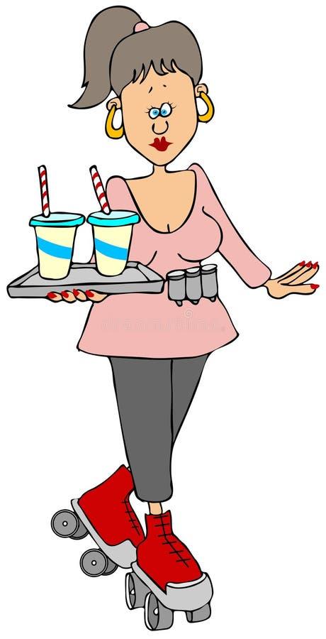 Download Car hop stock illustration. Illustration of female, retro - 30198334