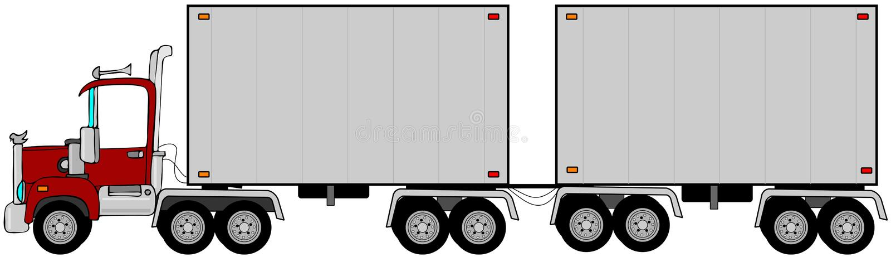 Download Double trailer stock illustration. Illustration of wheel - 29752956