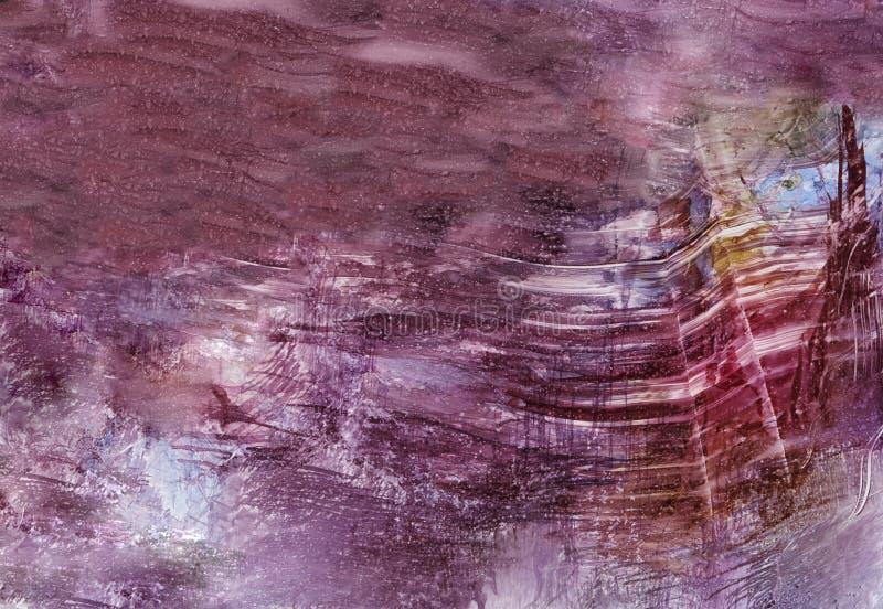 Illustration der abstrakten Kunst in den hellen, Pastellfarben vektor abbildung