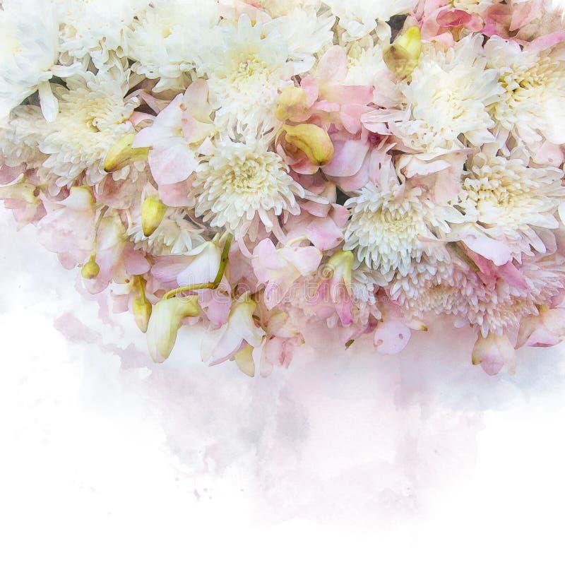Illustration der Blütenblume lizenzfreie abbildung