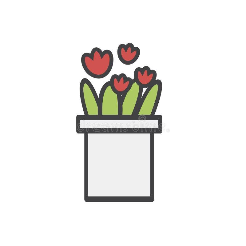Illustration der Blume stock abbildung