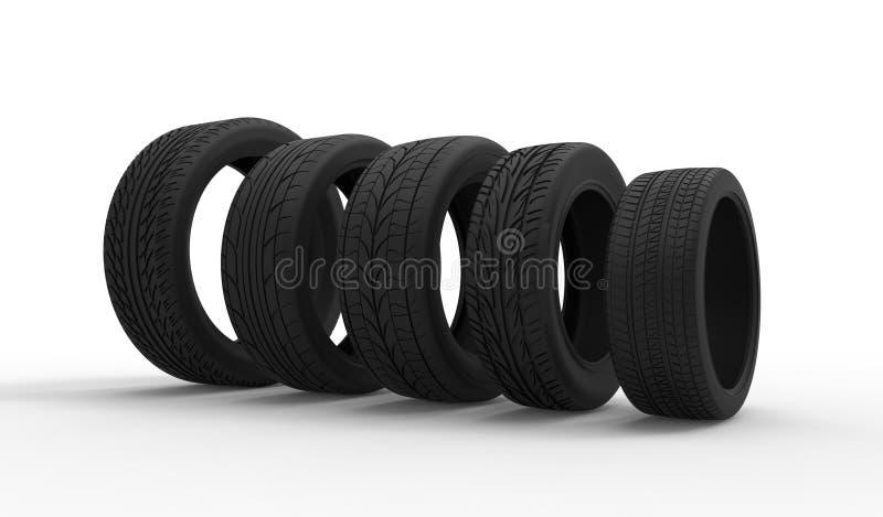 Reifenwahl stock abbildung