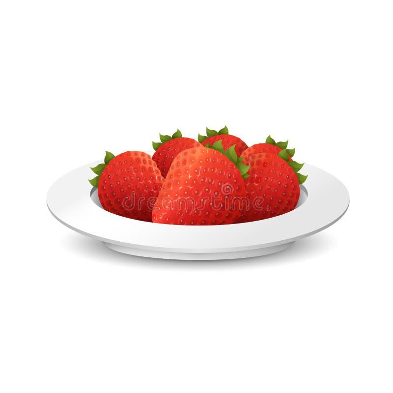 Illustration der Erdbeere stockfotos