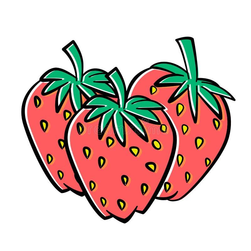 Illustration der Erdbeerevektor-Illustration lizenzfreie abbildung