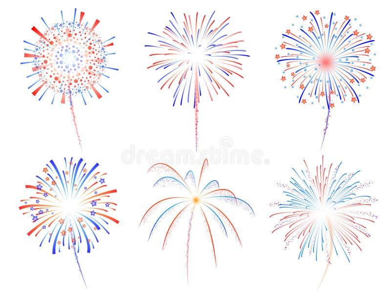 Illustration der Feuerwerke d vektor abbildung