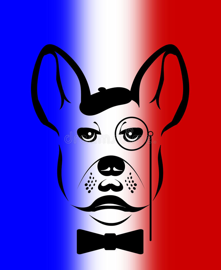Illustration der französischen Bulldogge vektor abbildung