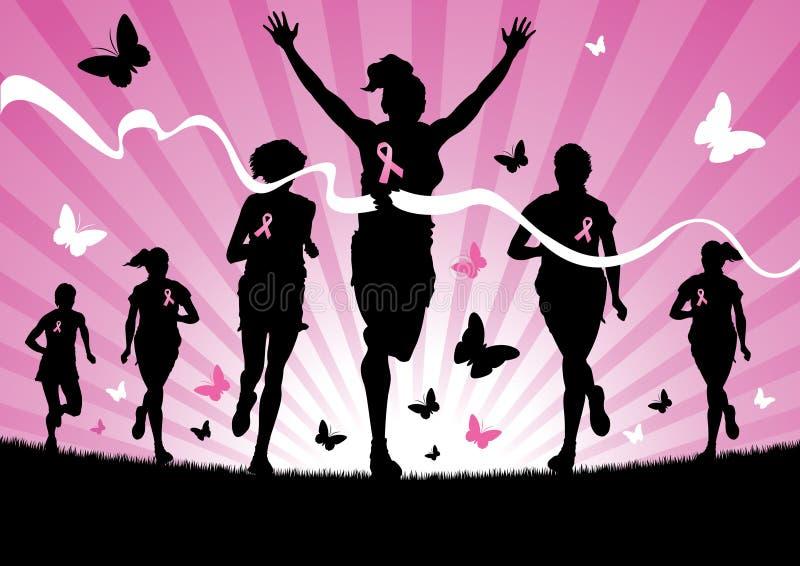 Frauen-Laufen stock abbildung