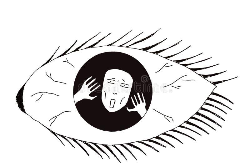 Illustration der Geisteskrankheit lizenzfreie stockbilder