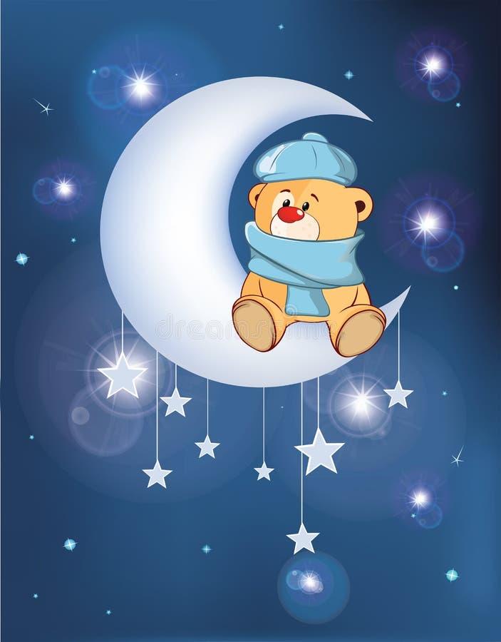 Illustration der Hund auf dem Mond lizenzfreie abbildung