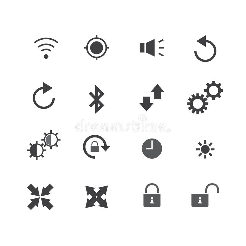 Illustration der Ikone des alten Telefons stock abbildung