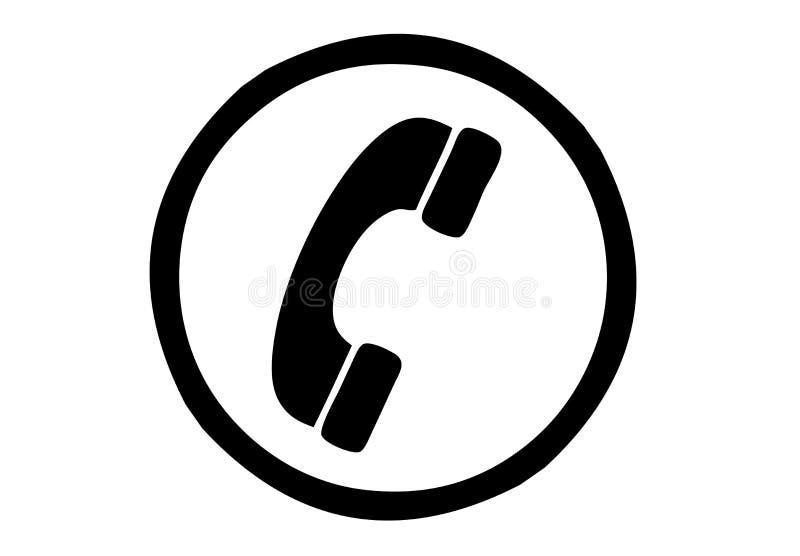 Illustration der Ikone des alten Telefons lizenzfreie abbildung