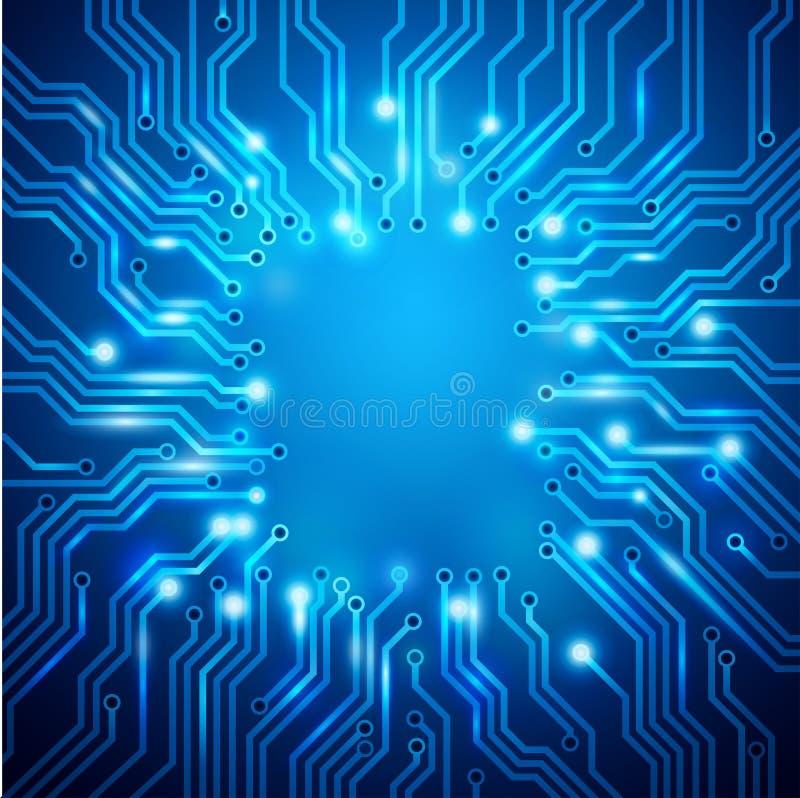 Illustration der Leiterplatte lizenzfreie abbildung