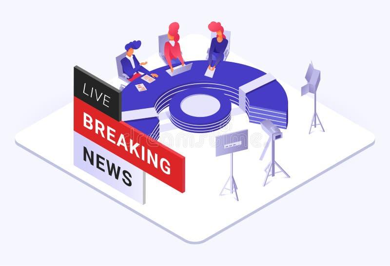 Illustration der letzten Nachrichten lizenzfreie abbildung
