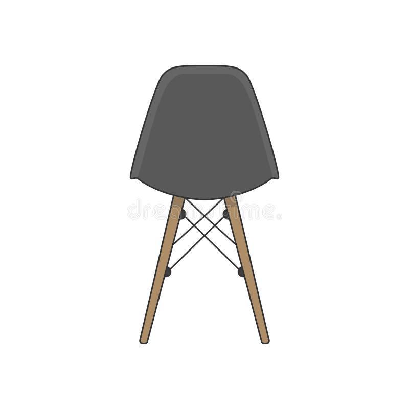 Illustration der Rückseite eines Stuhls lizenzfreie abbildung