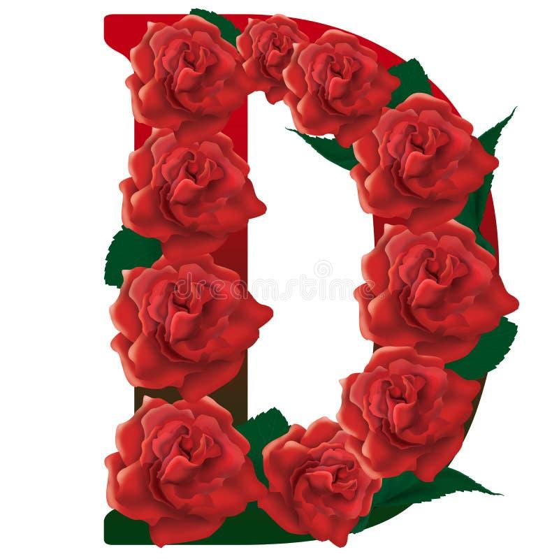illustration der roten rosen des buchstaben d stock abbildung illustration von abbildungen. Black Bedroom Furniture Sets. Home Design Ideas