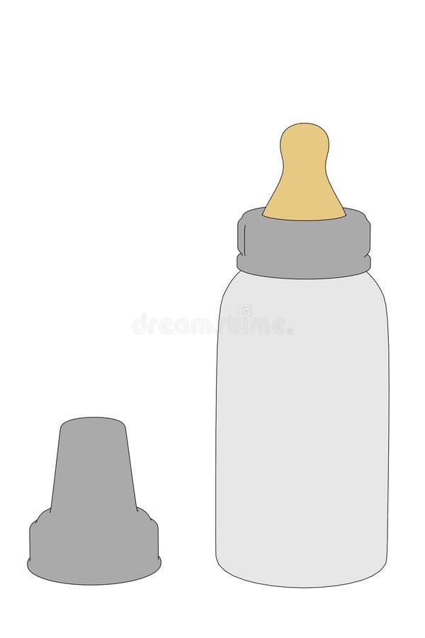 Illustration der Saugflasche stock abbildung