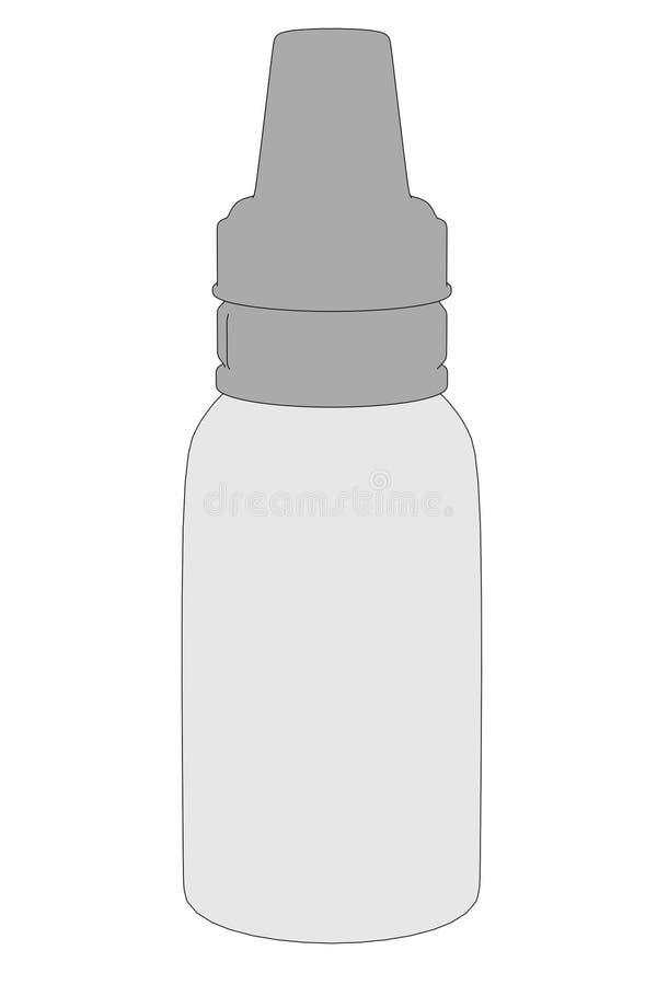 Illustration der Saugflasche vektor abbildung