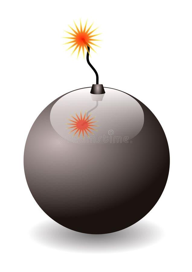 Illustration der schwarzen Bombe lizenzfreie stockfotografie