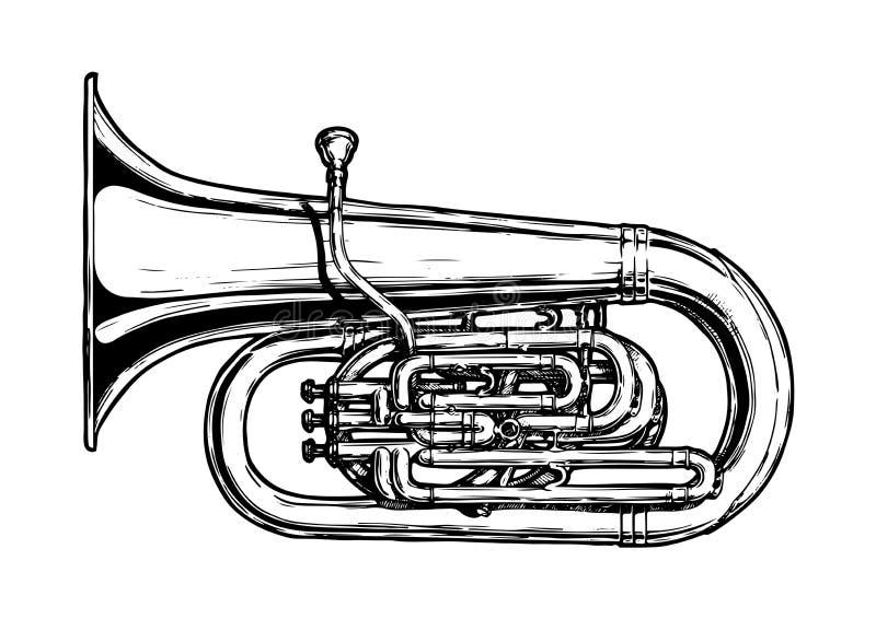 Illustration der Tuba vektor abbildung