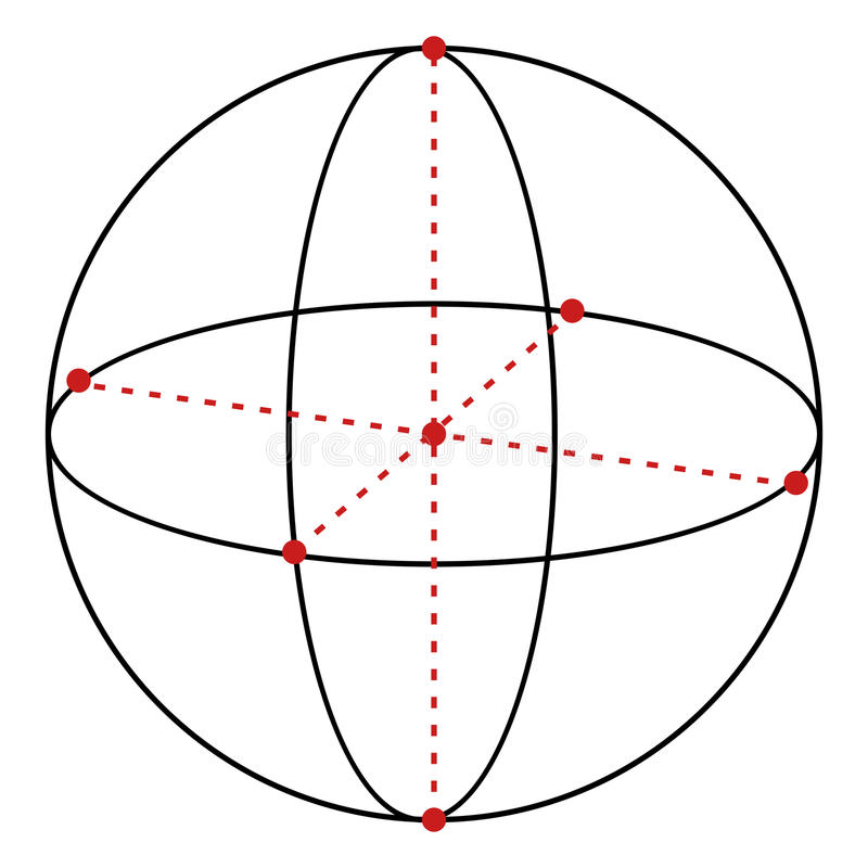 Illustration der Vektor-einzelnen Zeile - Bereich lizenzfreie abbildung