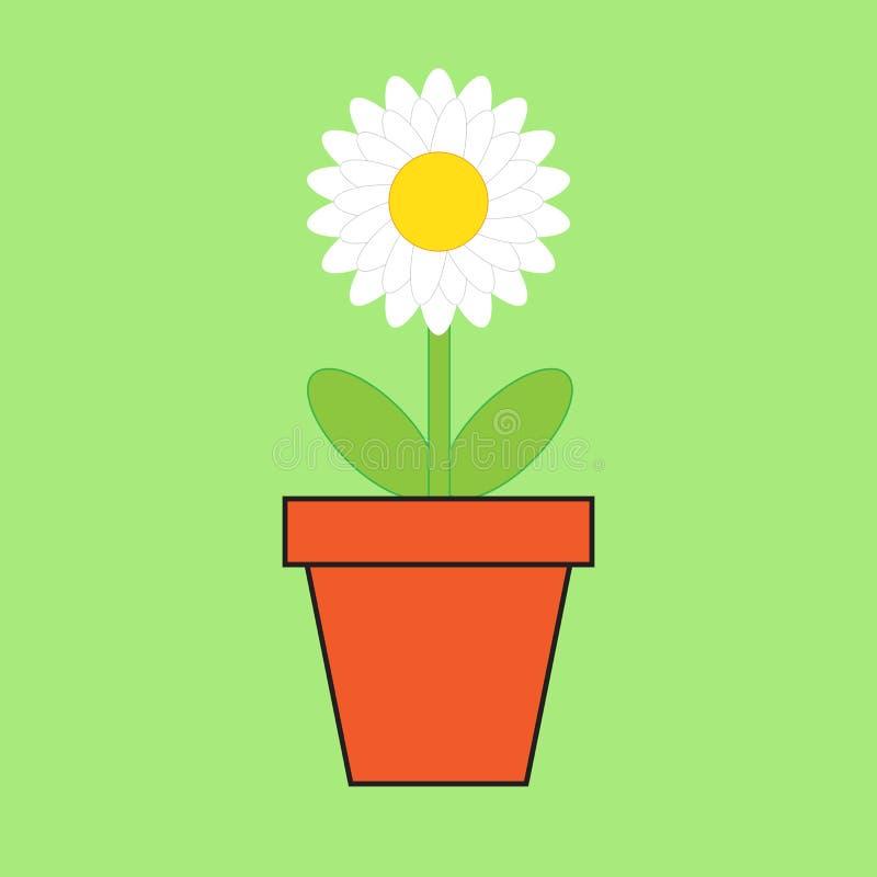 Illustration der weißen Blume lizenzfreie abbildung