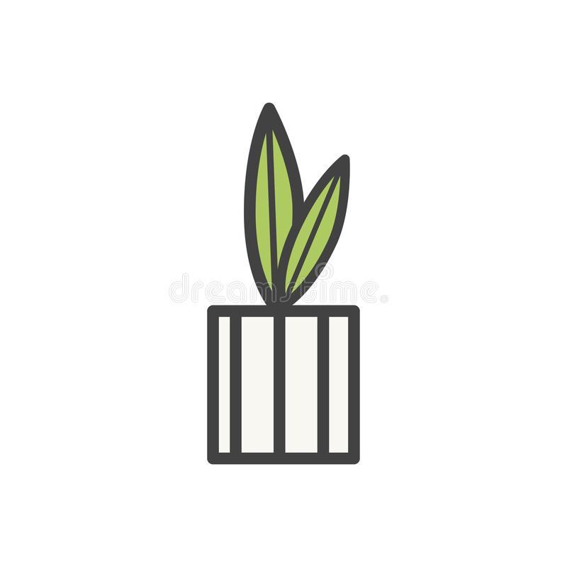 Illustration der Zimmerpflanzeikone stock abbildung