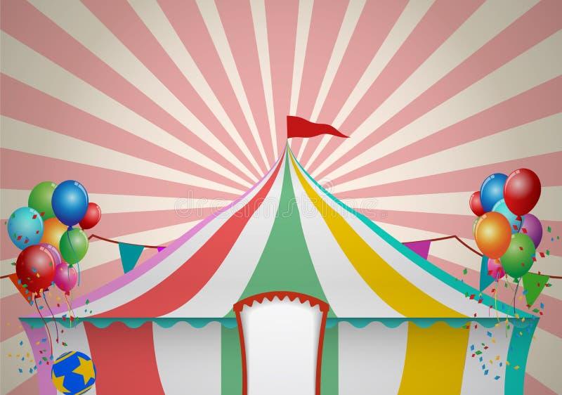 Zirkus-Zelt-Feier stock abbildung