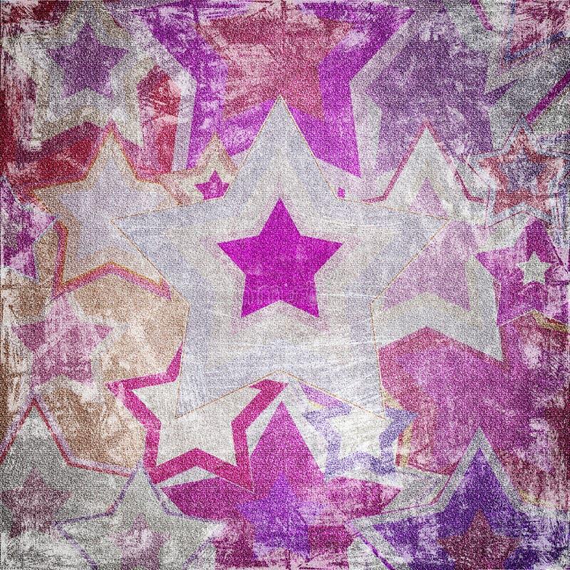 Illustration des étoiles modifiées de tissu illustration libre de droits