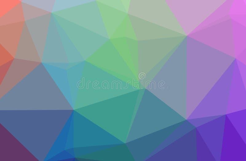 Illustration des abstrakten blauen, rosa, purpurroten, roten horizontalen niedrigen Polyhintergrundes Schönes Polygonentwurfsmust vektor abbildung