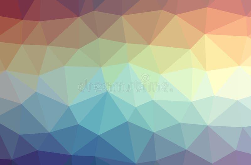 Illustration des abstrakten blauen und gelben horizontalen niedrigen Polyhintergrundes Schönes Polygonentwurfsmuster stock abbildung