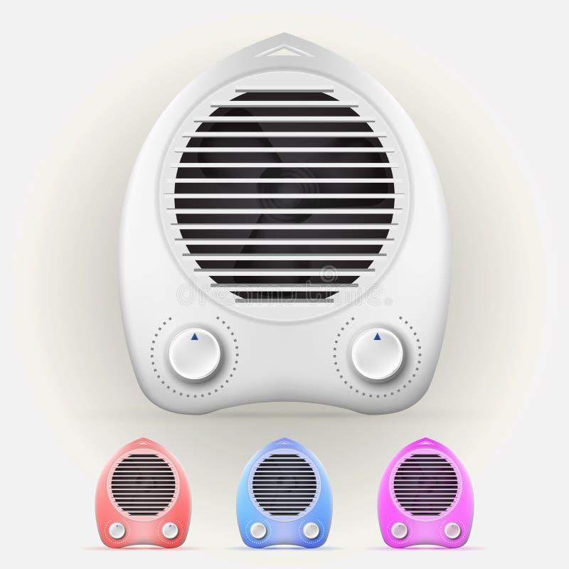Illustration des appareils de chauffage illustration libre de droits