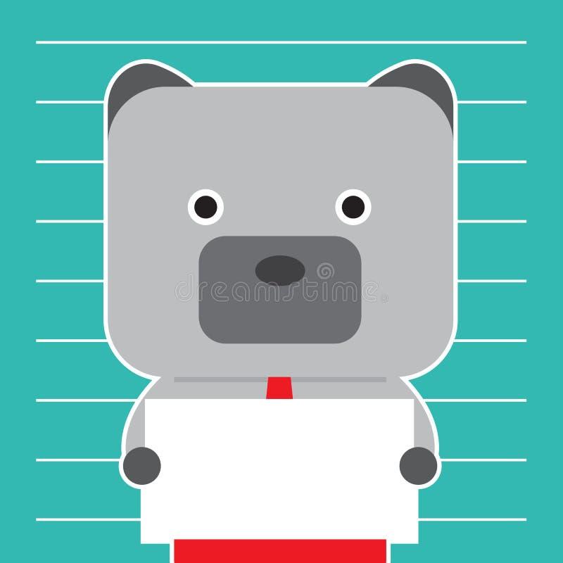 Illustration des Bärnsymbols der Börsetendenz lizenzfreie stockfotografie